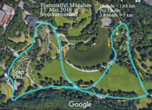 Teamstaffel München Strecke 2018